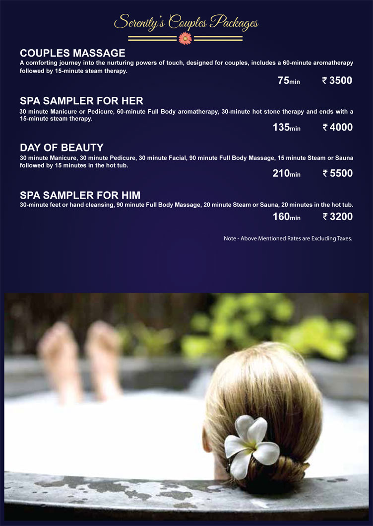 Serenity spa ofuro and gym ramada neemrana business for Spa vacation packages for couples