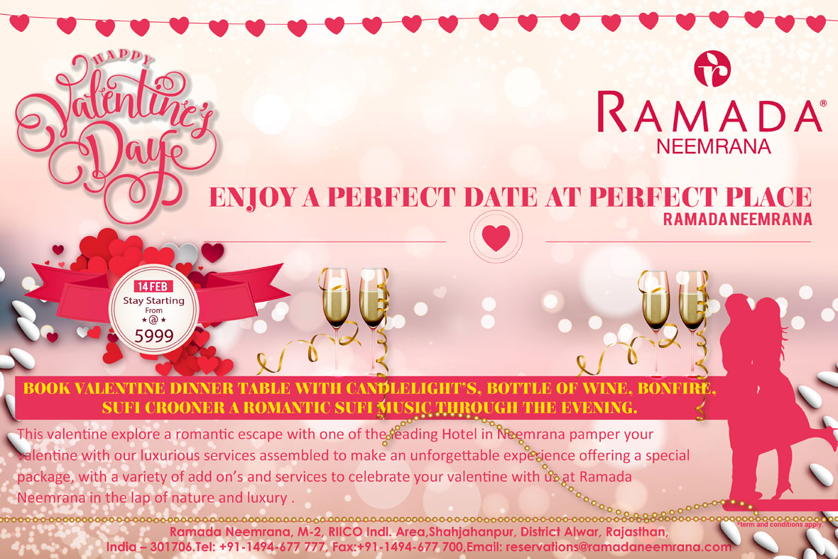 Celebrate Love  Valentines Day 2017 Offer at Ramada Neemrana